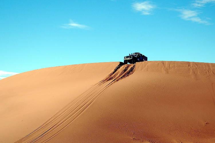 Песчаные дюны пляжа Стоктон